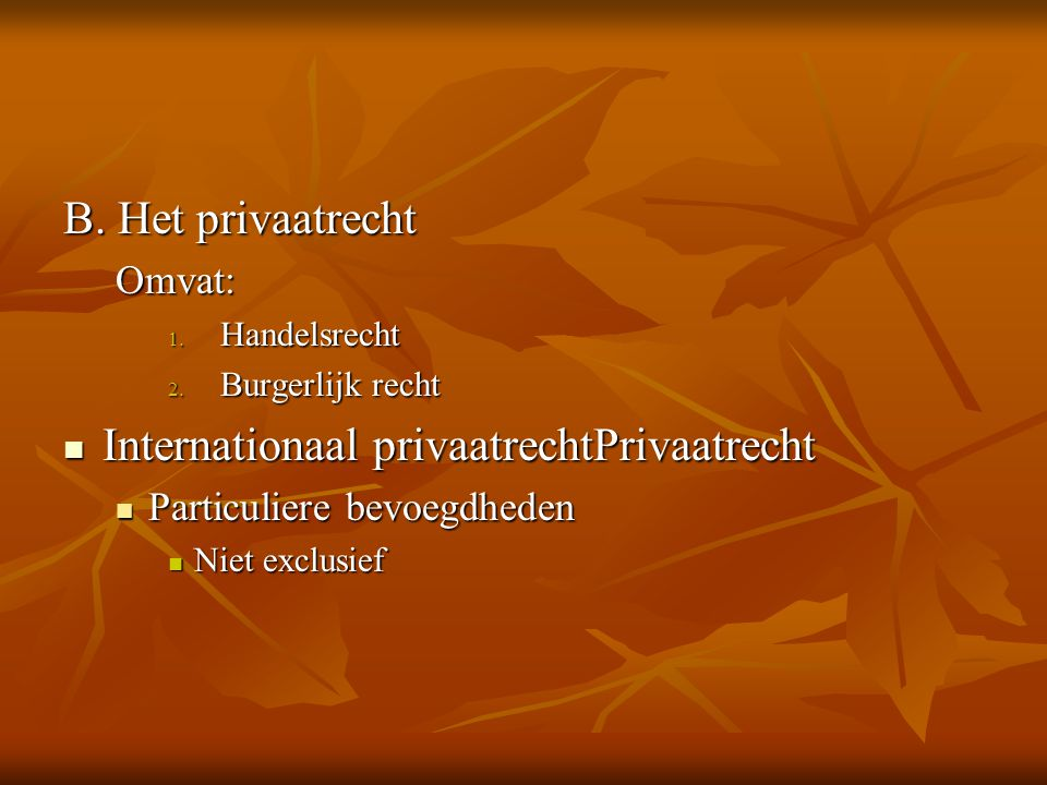 Internationaal privaatrechtPrivaatrecht