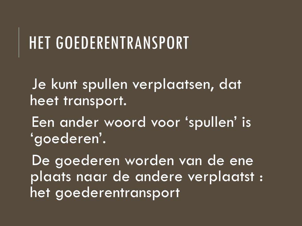 Het goederentransport