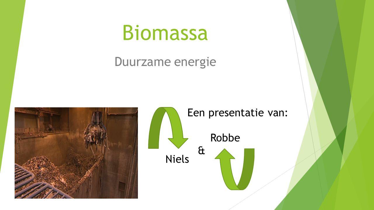 Biomassa Duurzame energie Een presentatie van: Robbe & Niels