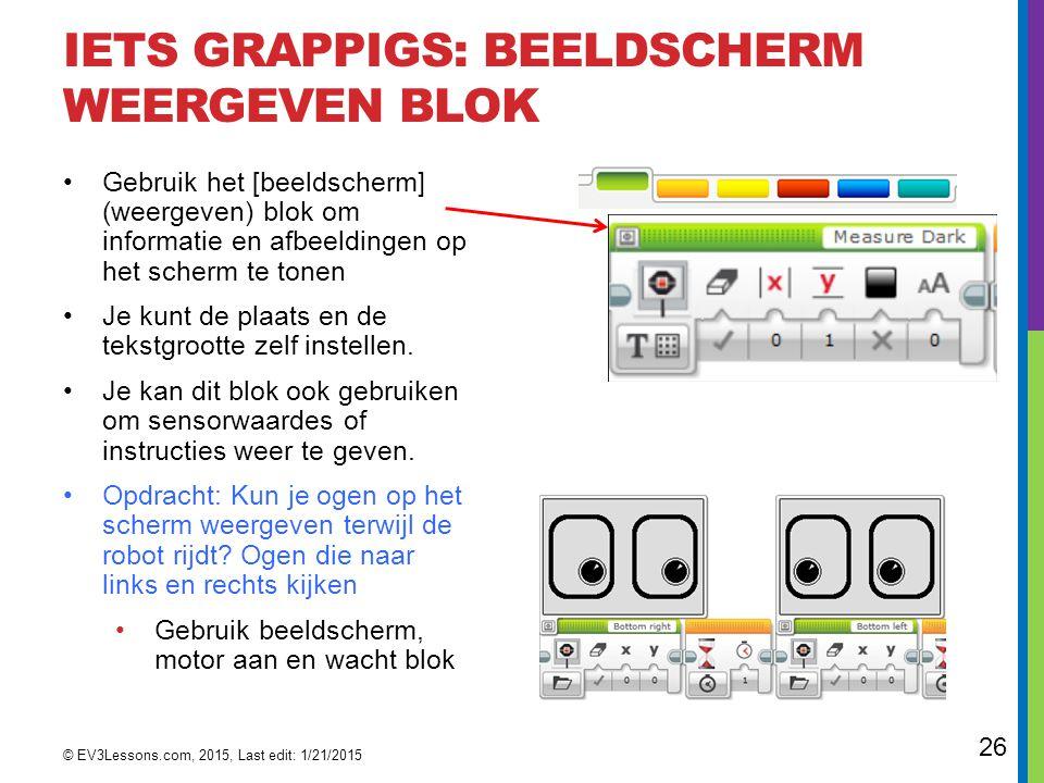 Iets grappigs: beeldscherm weergeven blok