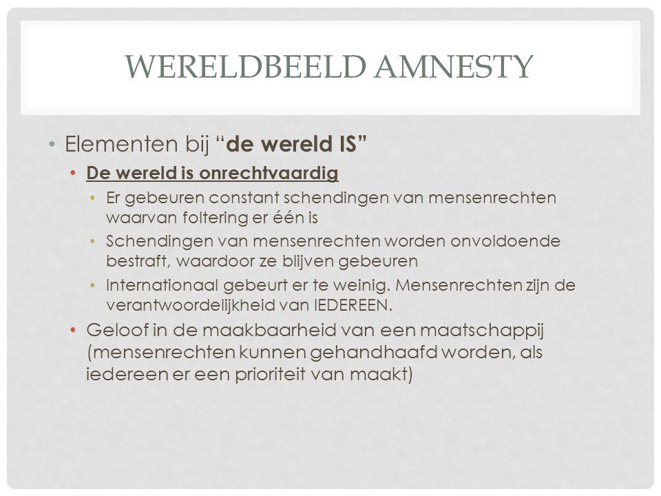 Wereldbeeld amnesty Elementen bij de wereld IS
