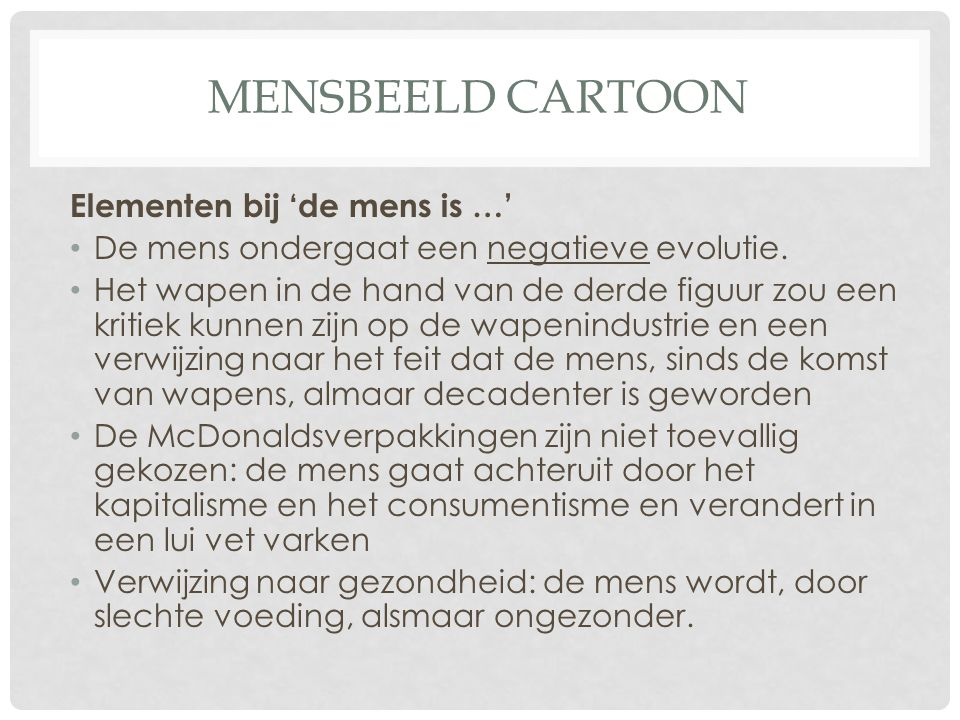 Mensbeeld cartoon Elementen bij 'de mens is …'