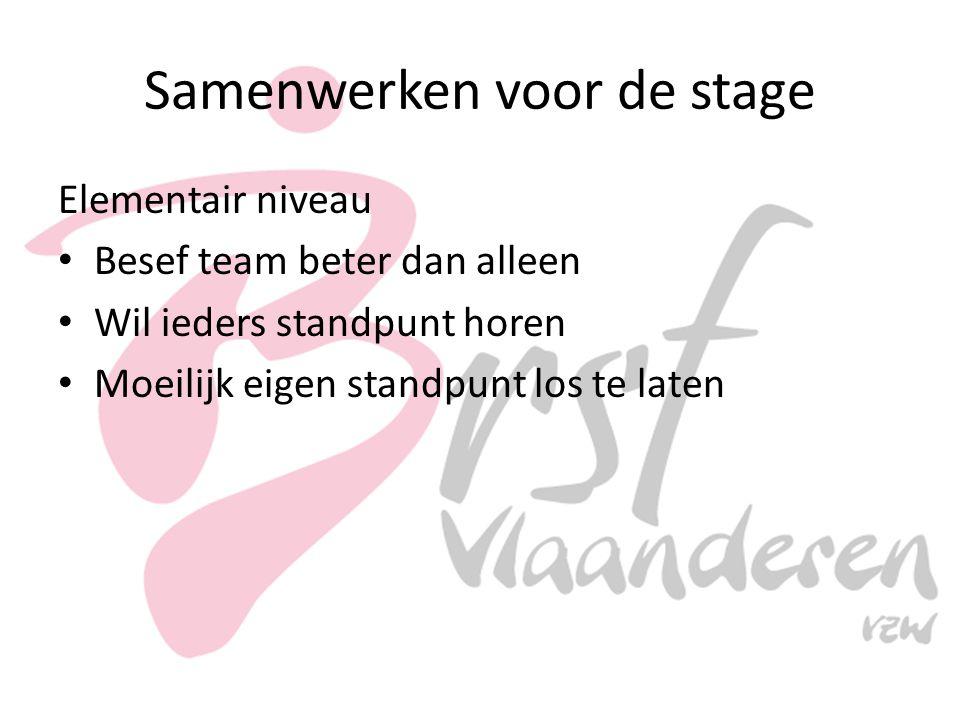 Samenwerken voor de stage