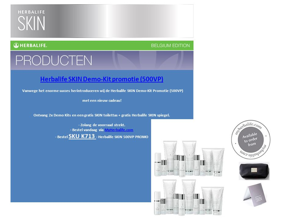 Herbalife SKIN Demo-Kit promotie (500VP)