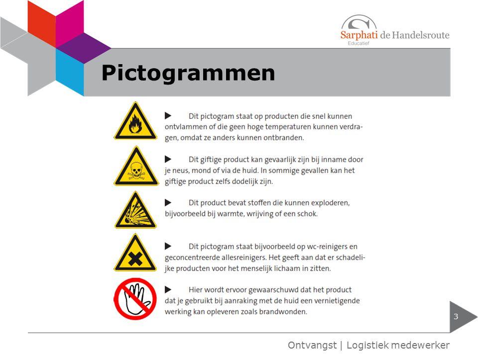 Pictogrammen Ontvangst | Logistiek medewerker