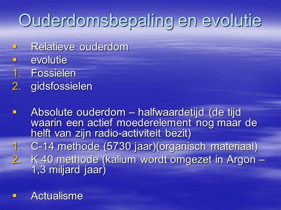 Ouderdomsbepaling en evolutie