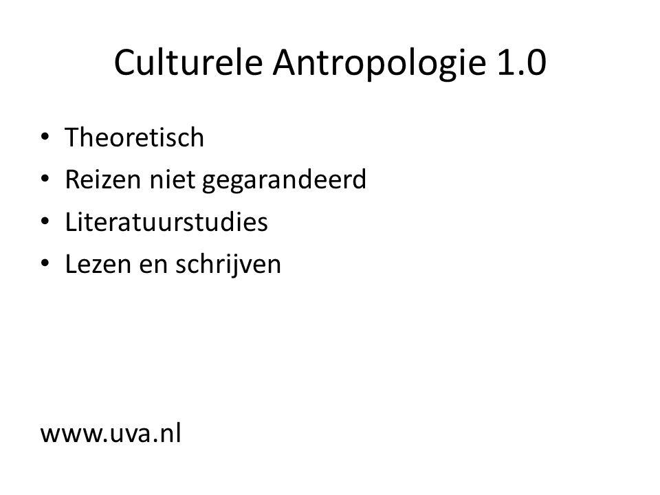Culturele Antropologie 1.0