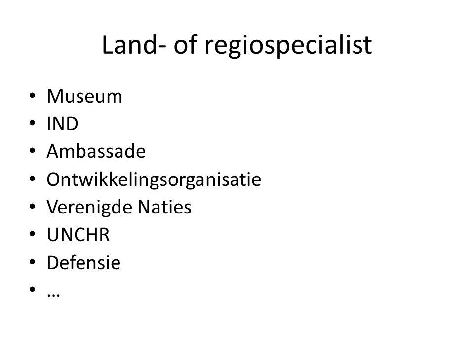 Land- of regiospecialist