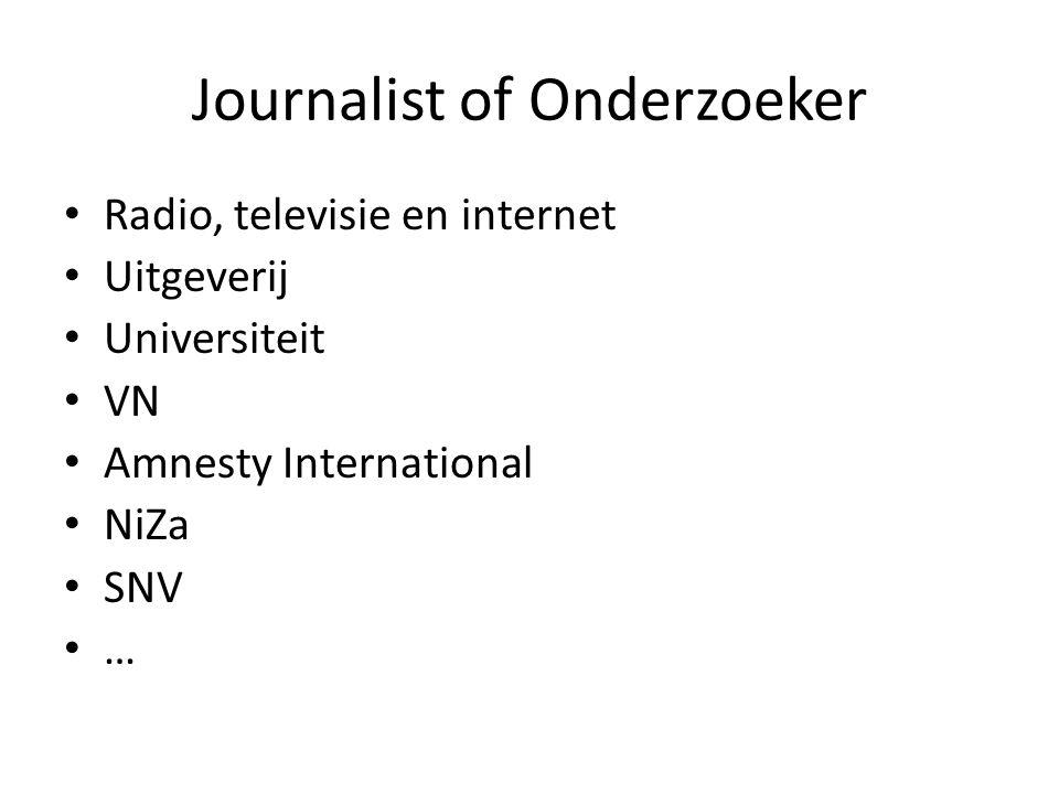 Journalist of Onderzoeker