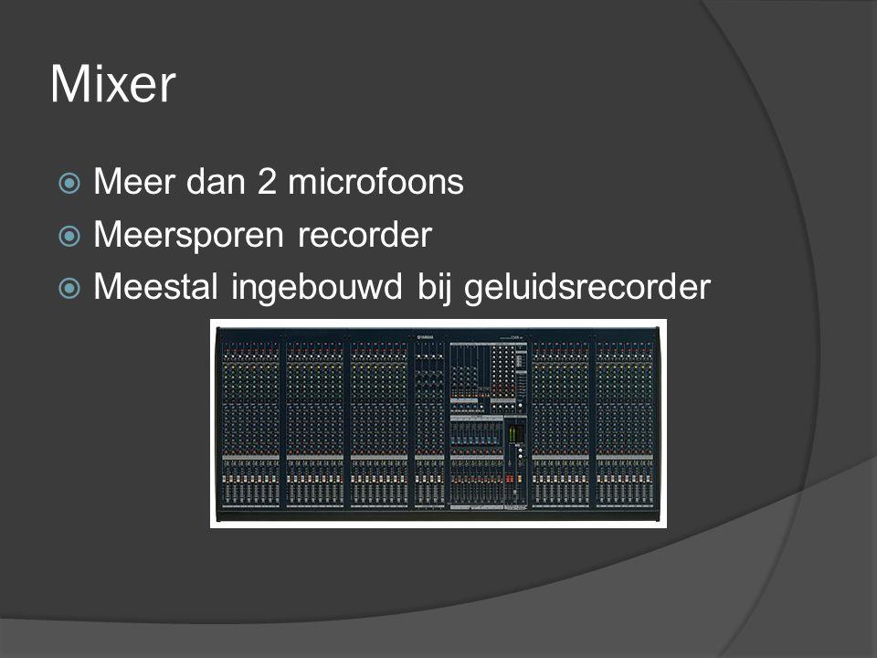 Mixer Meer dan 2 microfoons Meersporen recorder