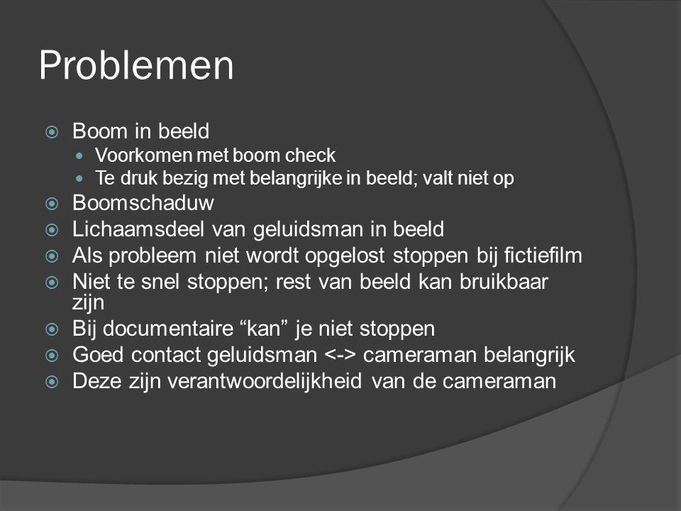 Problemen Boom in beeld Boomschaduw