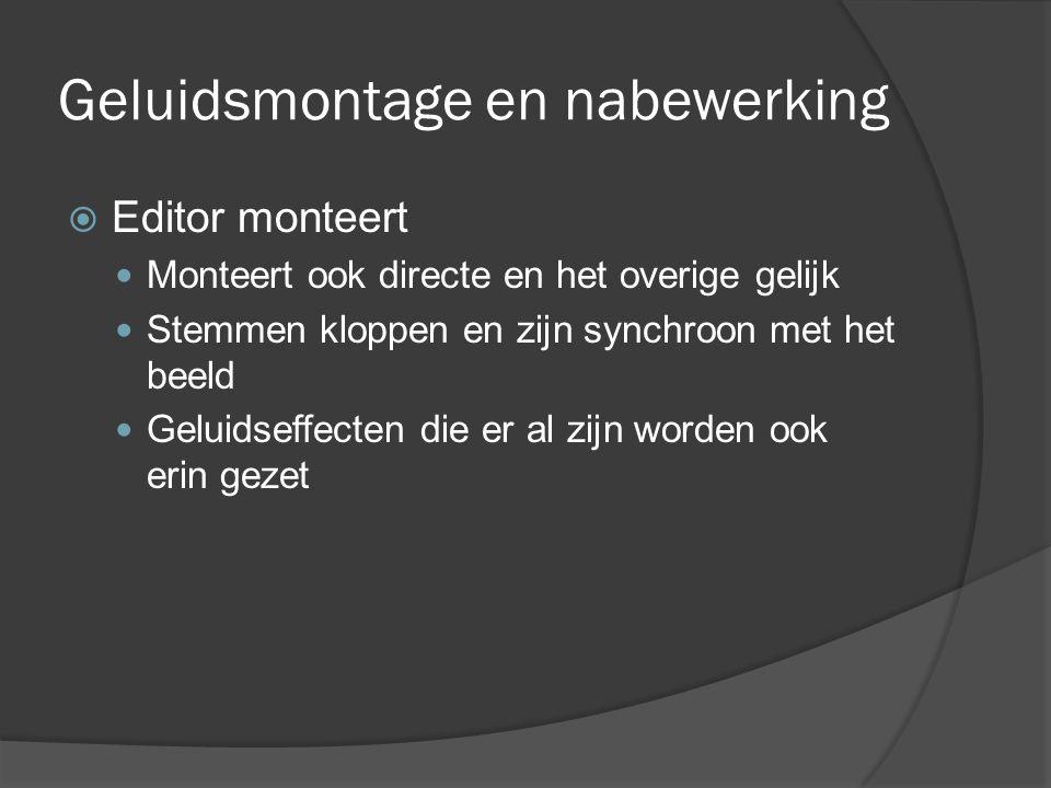 Geluidsmontage en nabewerking
