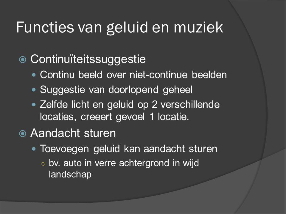 Functies van geluid en muziek