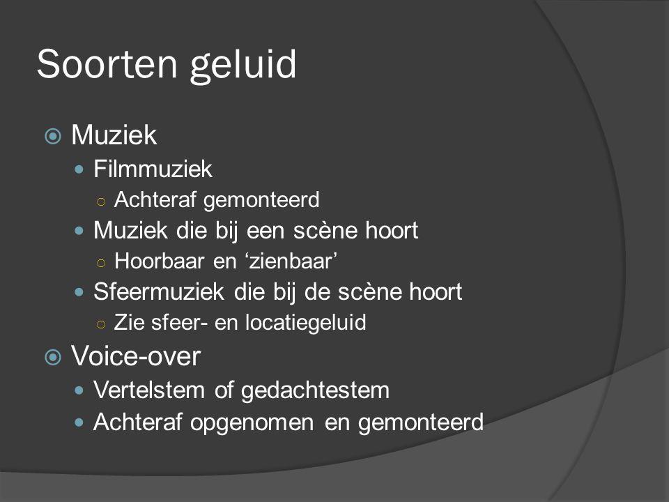 Soorten geluid Muziek Voice-over Filmmuziek