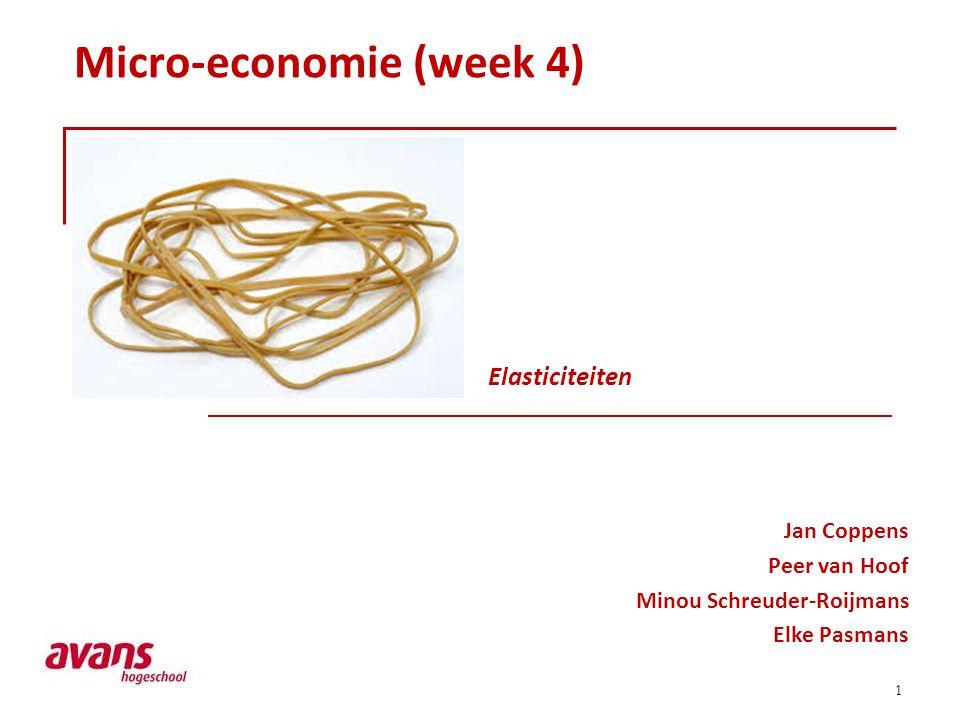 Micro-economie (week 4)