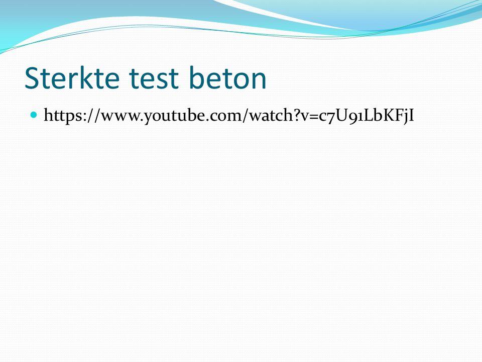 Sterkte test beton https://www.youtube.com/watch v=c7U91LbKFjI