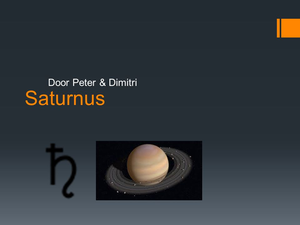 Saturnus Door Peter & Dimitri