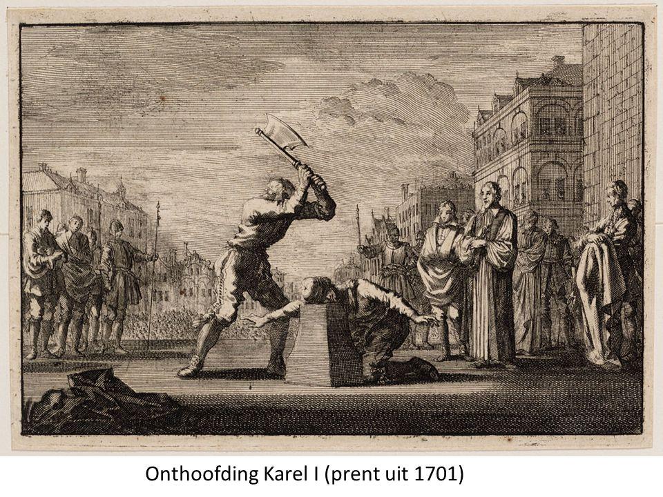 Onthoofding Karel I (prent uit 1701)