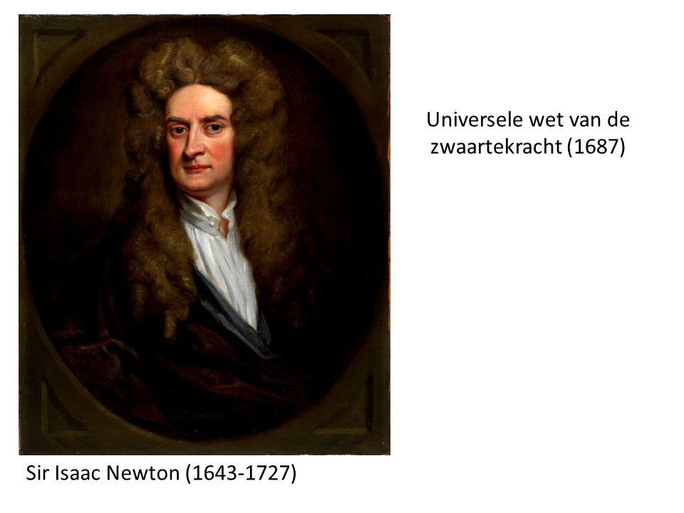 Universele wet van de zwaartekracht (1687) Sir Isaac Newton (1643-1727)