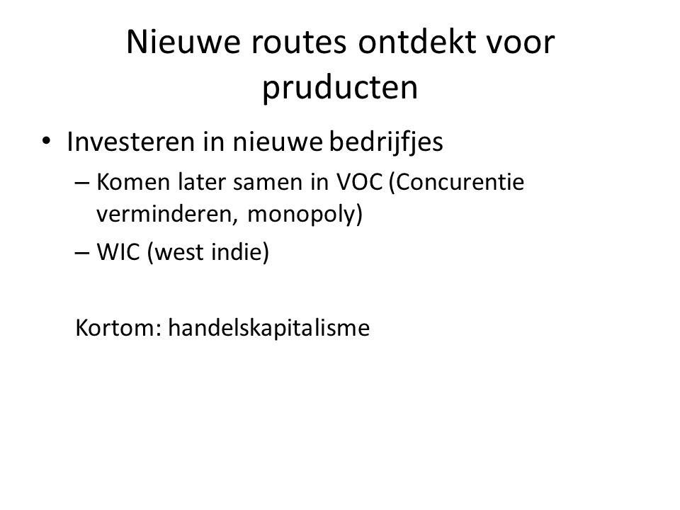 Nieuwe routes ontdekt voor pruducten