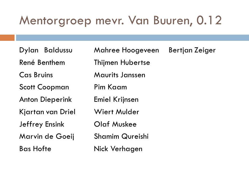 Mentorgroep mevr. Van Buuren, 0.12