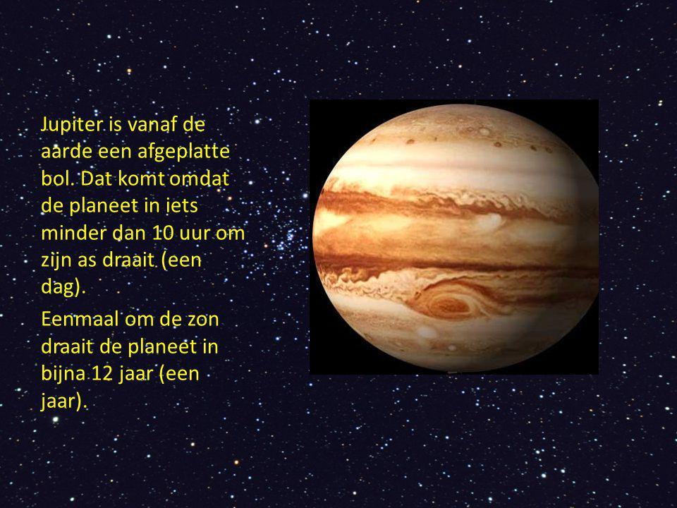 Jupiter is vanaf de aarde een afgeplatte bol