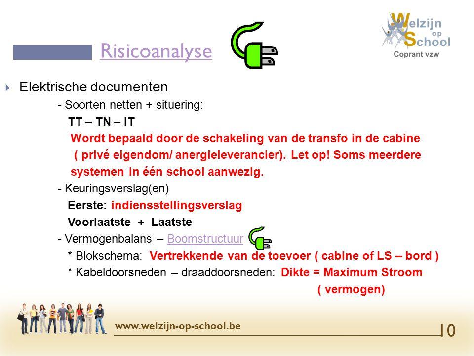Risicoanalyse Elektrische documenten - Soorten netten + situering: