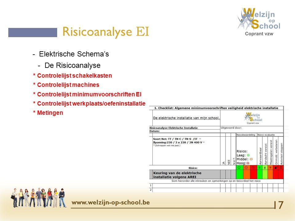 Risicoanalyse EI - Elektrische Schema's - De Risicoanalyse
