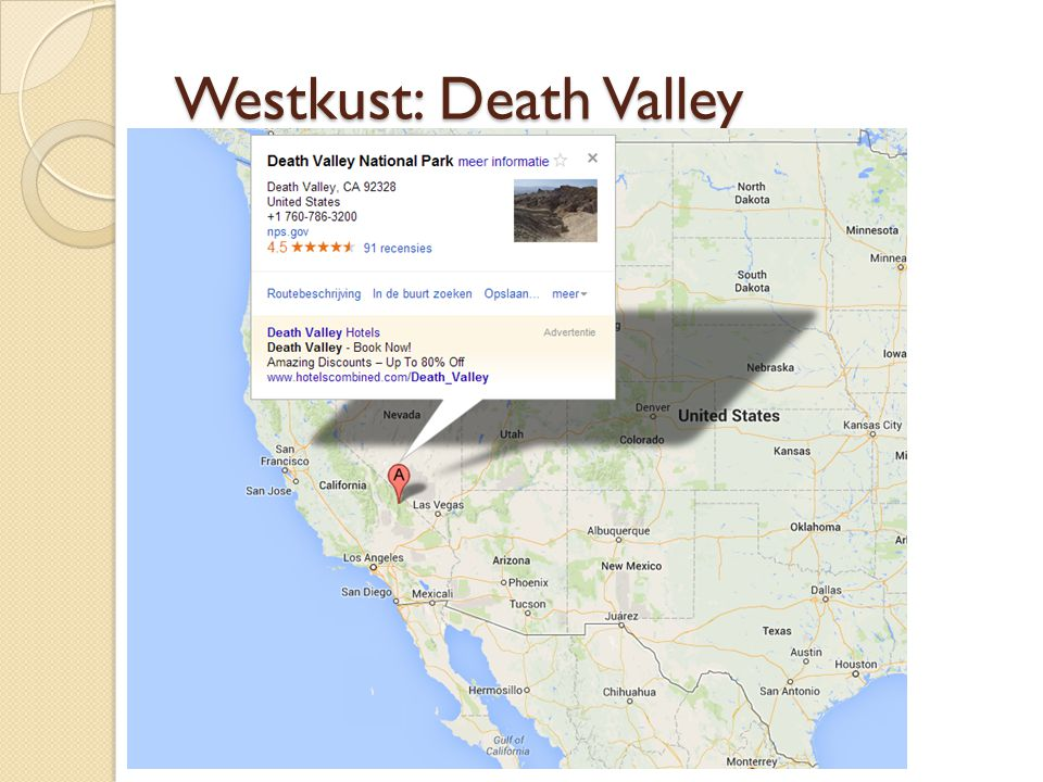 Westkust: Death Valley