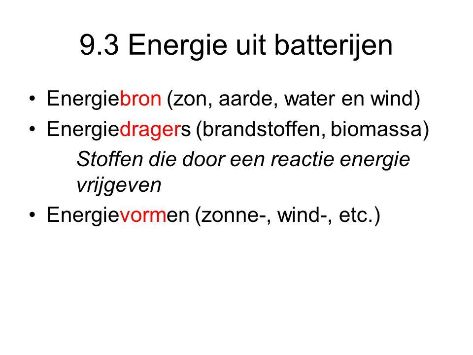 9.3 Energie uit batterijen