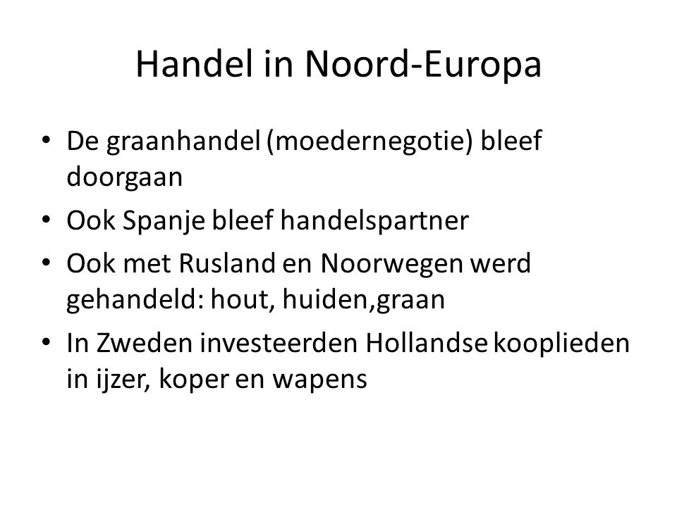 Handel in Noord-Europa