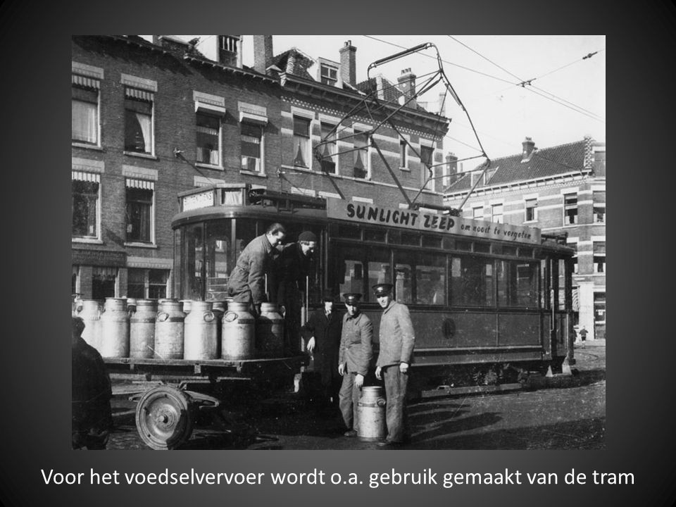 Voor het voedselvervoer wordt o.a. gebruik gemaakt van de tram