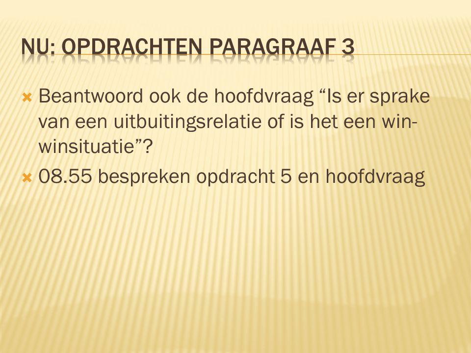 Nu: opdrachten paragraaf 3