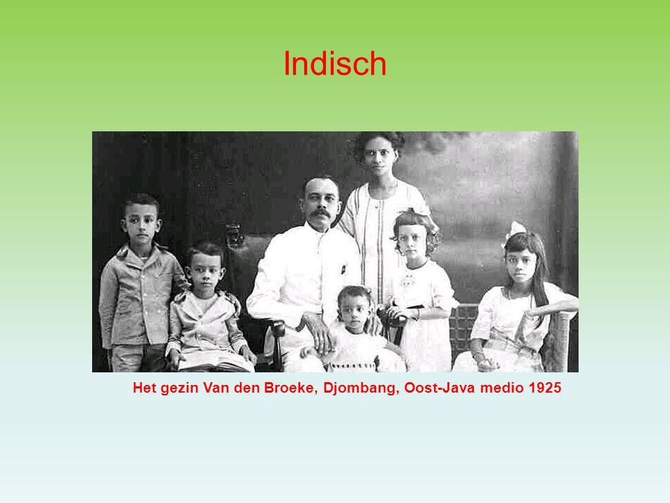 Indisch Het gezin Van den Broeke, Djombang, Oost-Java medio 1925