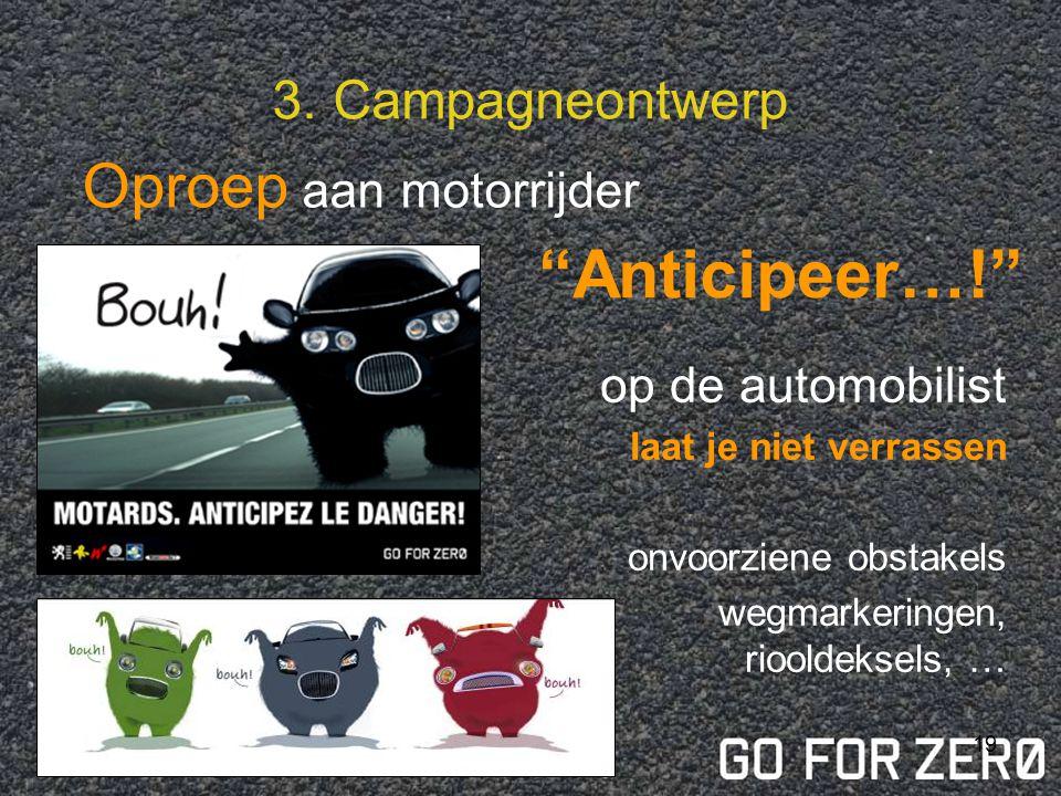 Anticipeer…! Oproep aan motorrijder 3. Campagneontwerp