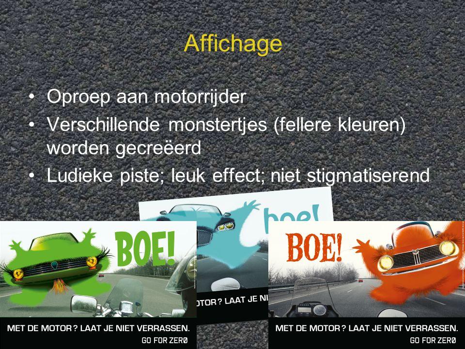 Affichage Oproep aan motorrijder