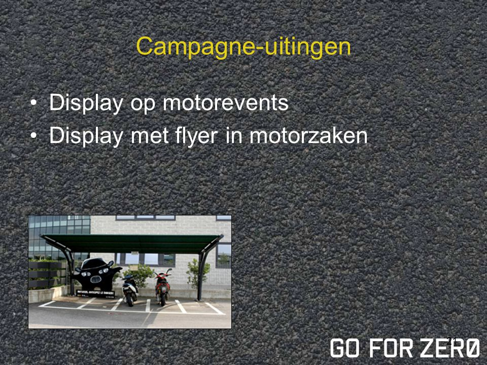 Campagne-uitingen Display op motorevents