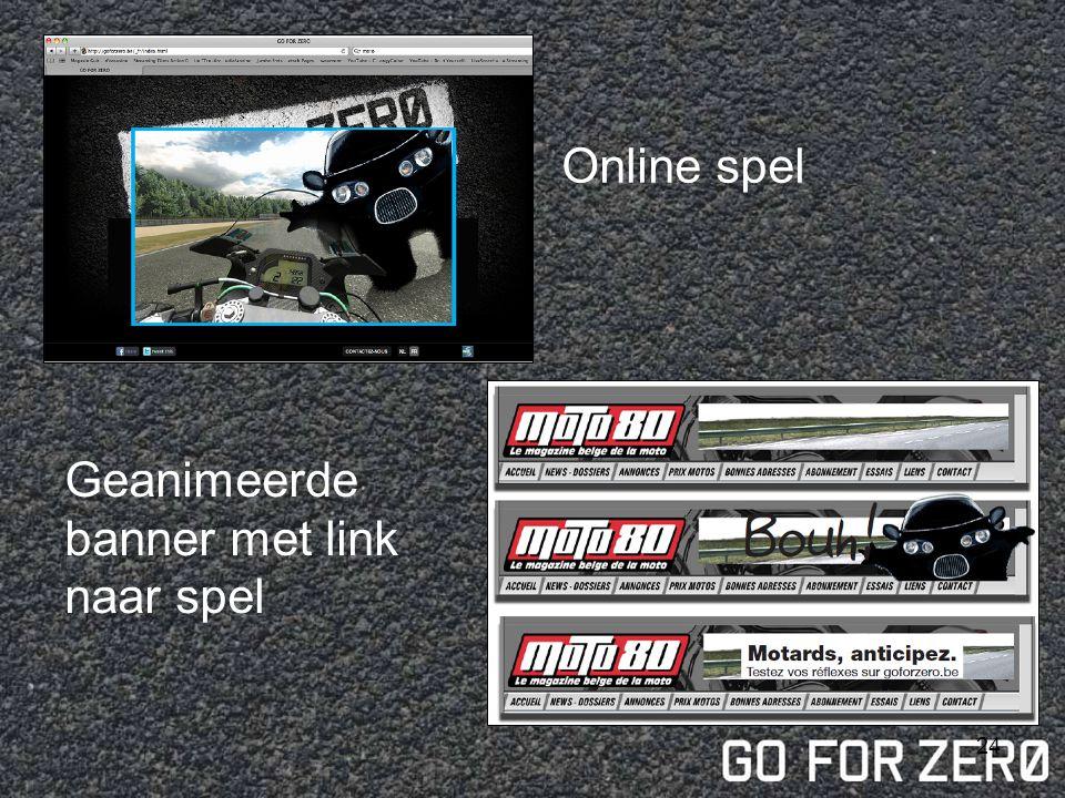 Online spel Geanimeerde banner met link naar spel