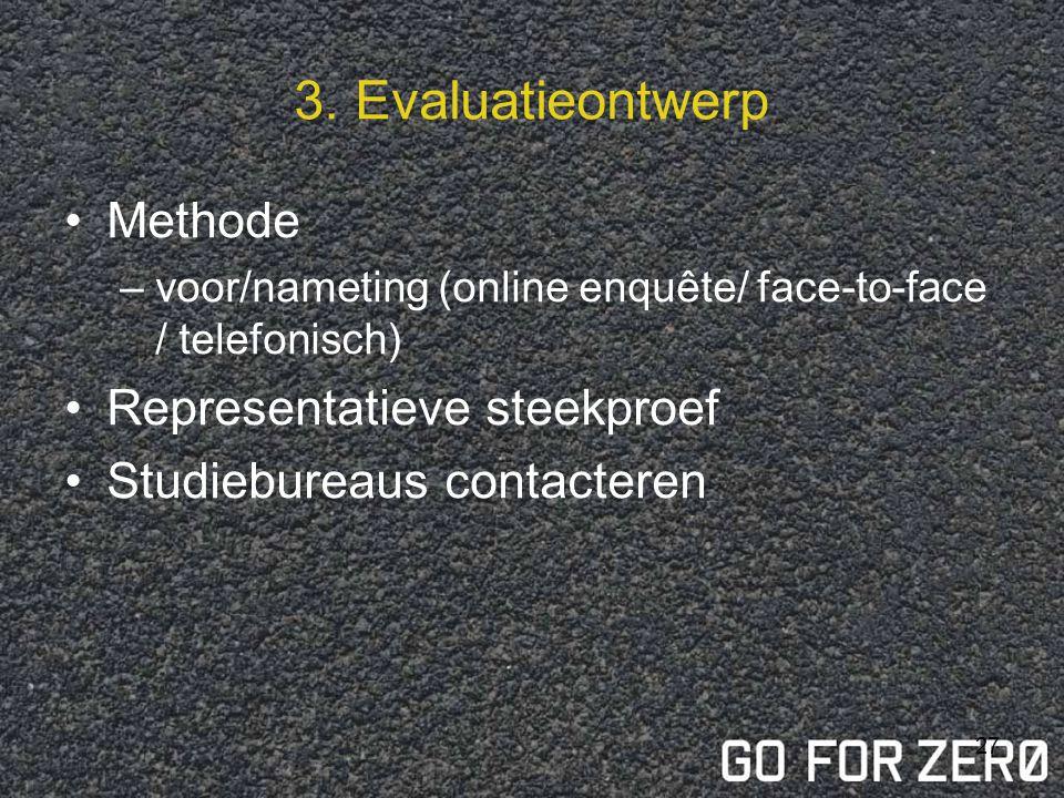 3. Evaluatieontwerp Methode Representatieve steekproef