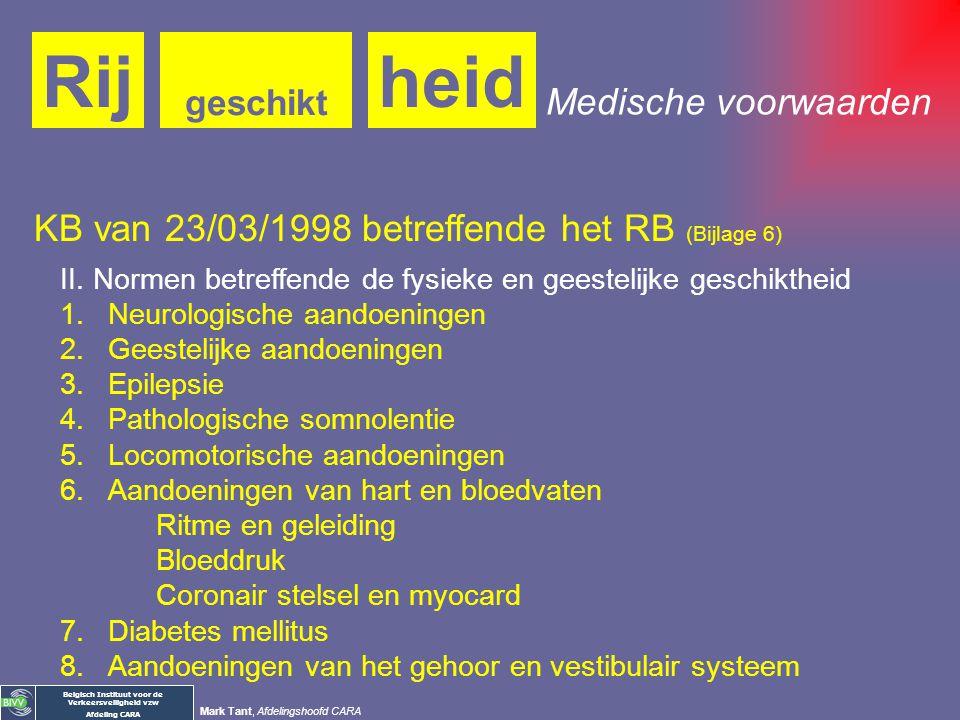Rij heid Medische voorwaarden