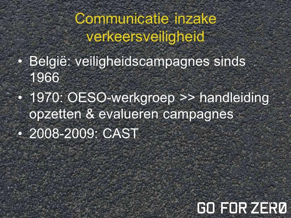 Communicatie inzake verkeersveiligheid