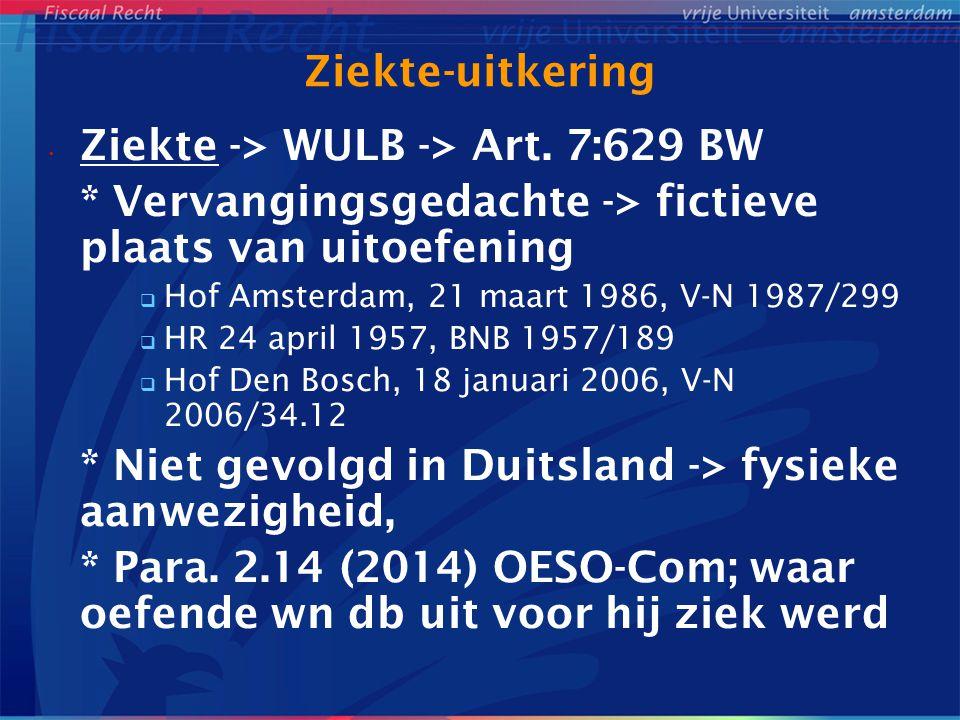 Ziekte -> WULB -> Art. 7:629 BW