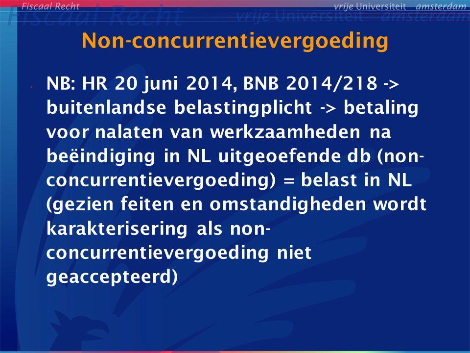 Non-concurrentievergoeding