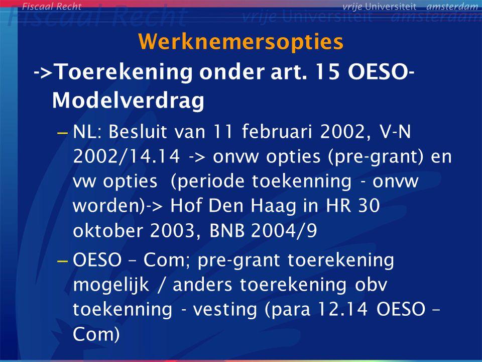 ->Toerekening onder art. 15 OESO-Modelverdrag