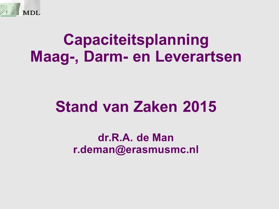 Capaciteitsplanning Maag-, Darm- en Leverartsen Stand van Zaken 2015 dr.R.A.