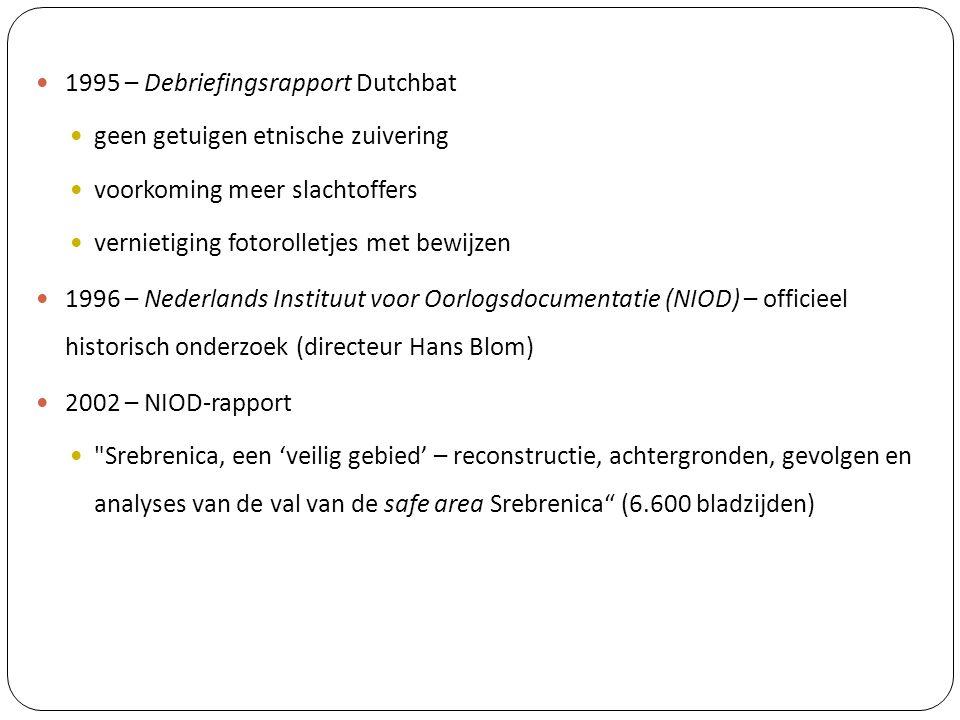 1995 – Debriefingsrapport Dutchbat