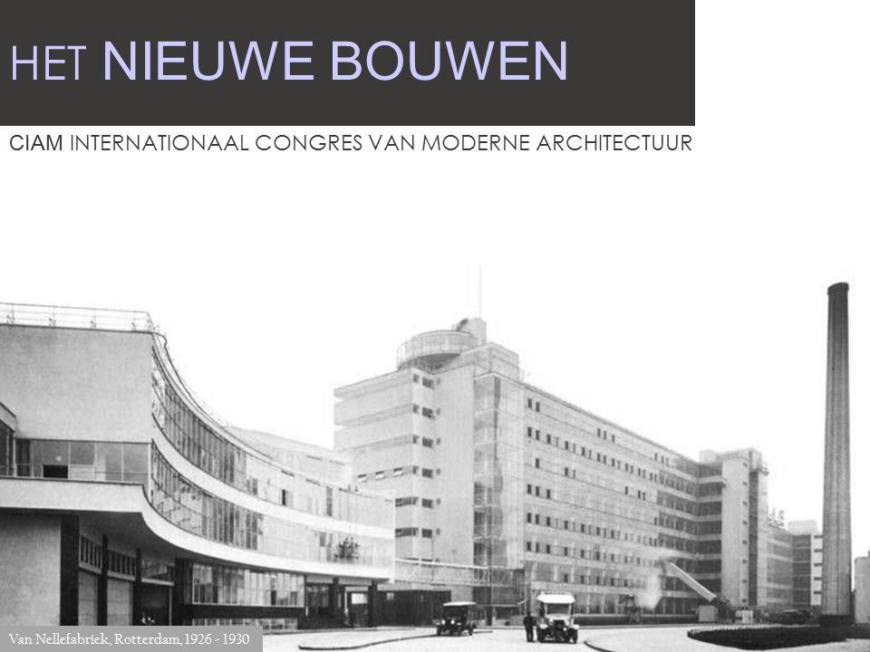 HET NIEUWE BOUWEN CIAM INTERNATIONAAL CONGRES VAN MODERNE ARCHITECTUUR