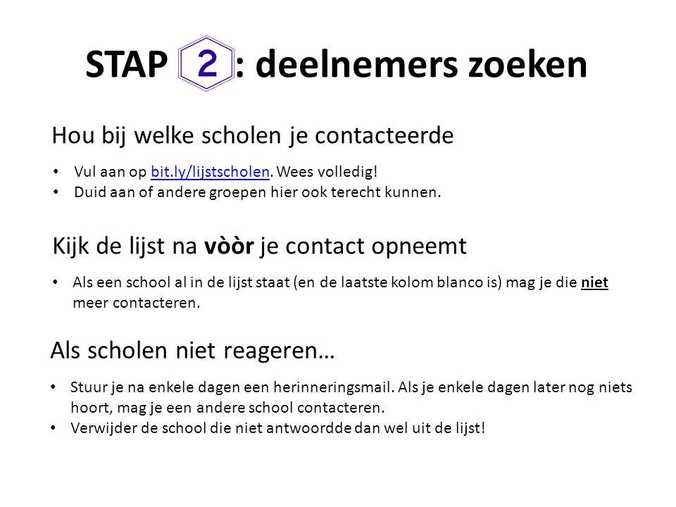 STAP : deelnemers zoeken
