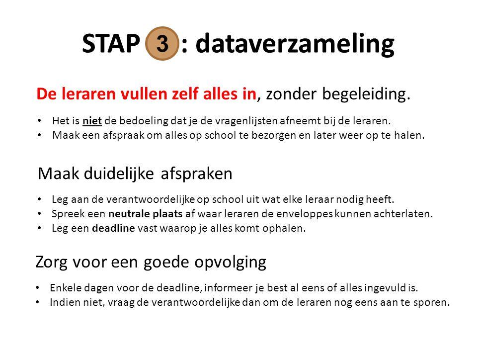 STAP : dataverzameling