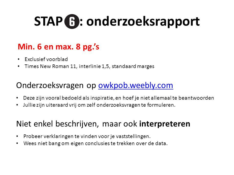 STAP : onderzoeksrapport
